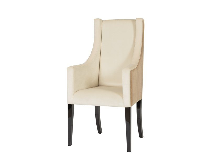 Upholstered velvet chair with armrests SUBLIME | Chair by Stylish Club