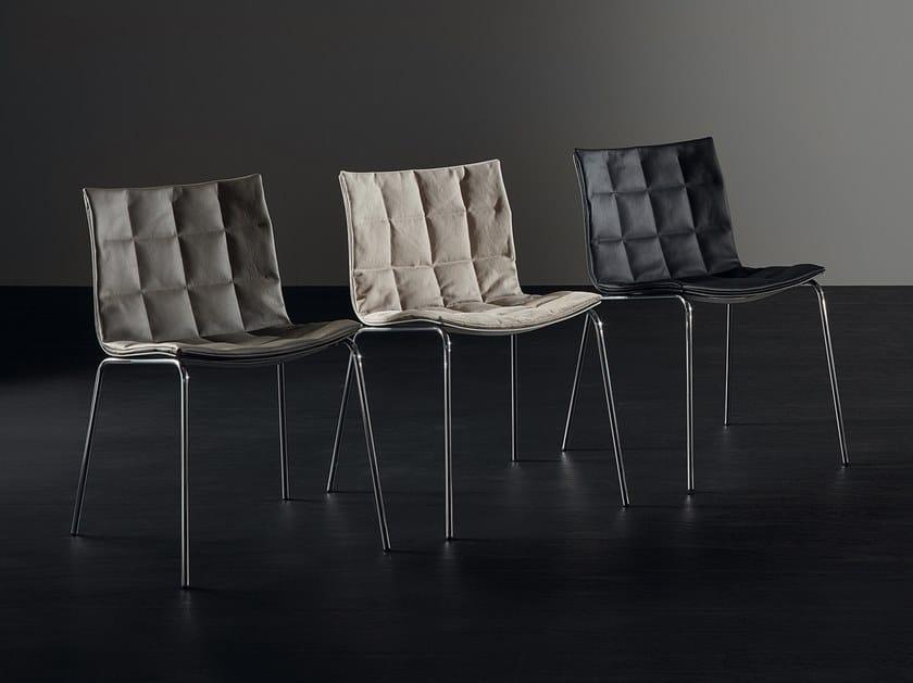Sedia in alluminio e pelle AIRY 2016   Sedia by ACERBIS
