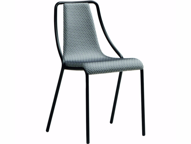 Upholstered restaurant chair OLA | Restaurant chair by Midj