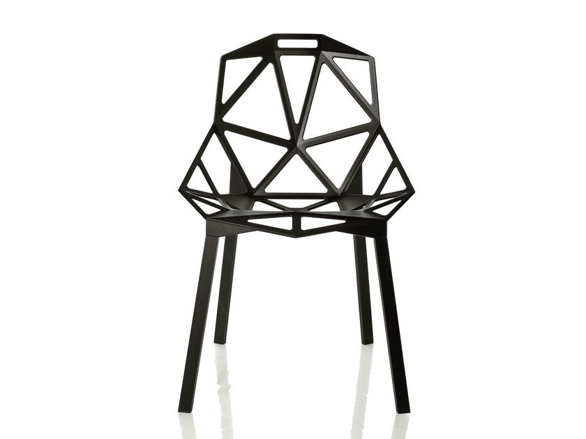 Stackable aluminium chair CHAIR_ONE | Stackable chair by Magis