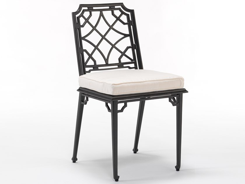 Aluminium garden chair with integrated cushion RISSINGTON | Chair by Oxley's Furniture