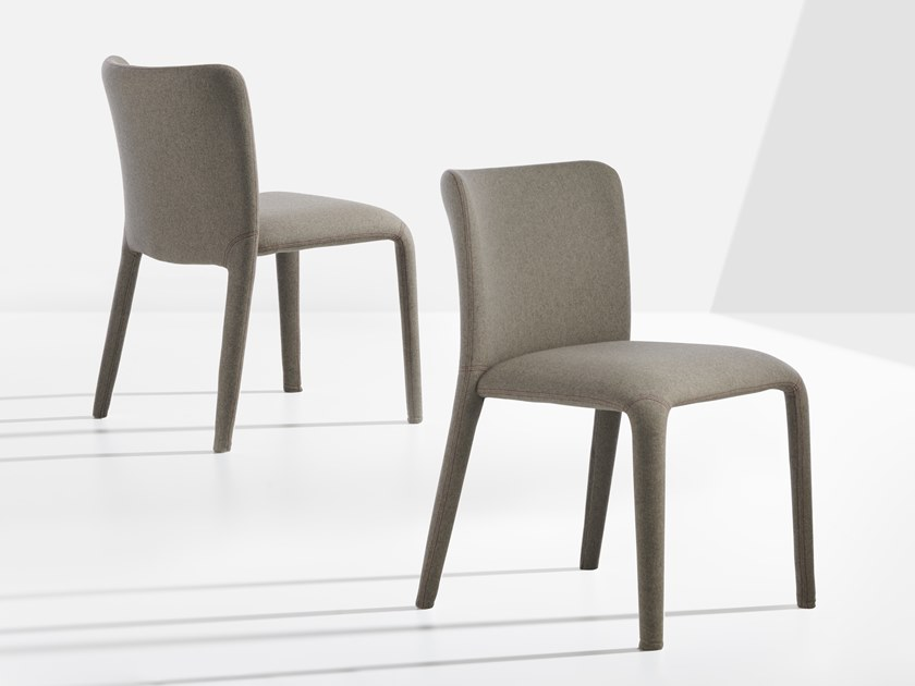 Upholstered fabric chair LARS   Chair by Potocco