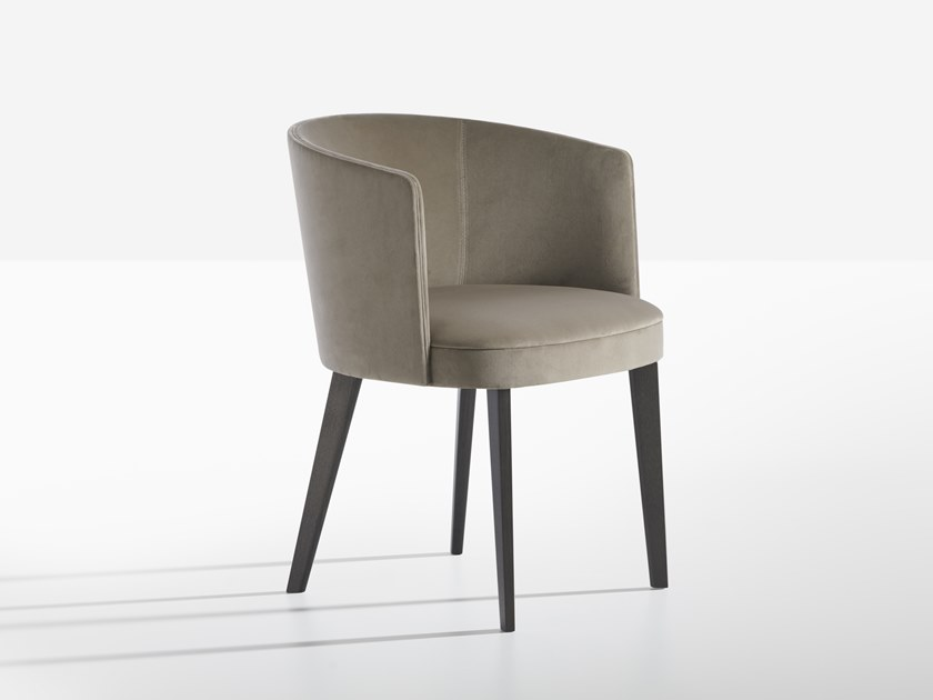 Fabric chair with armrests LENA | Chair by Potocco