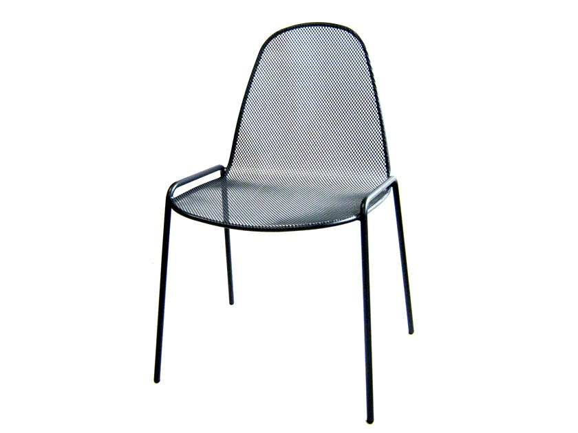 Stackable galvanized steel chair MIRABELLA 1 by RD Italia