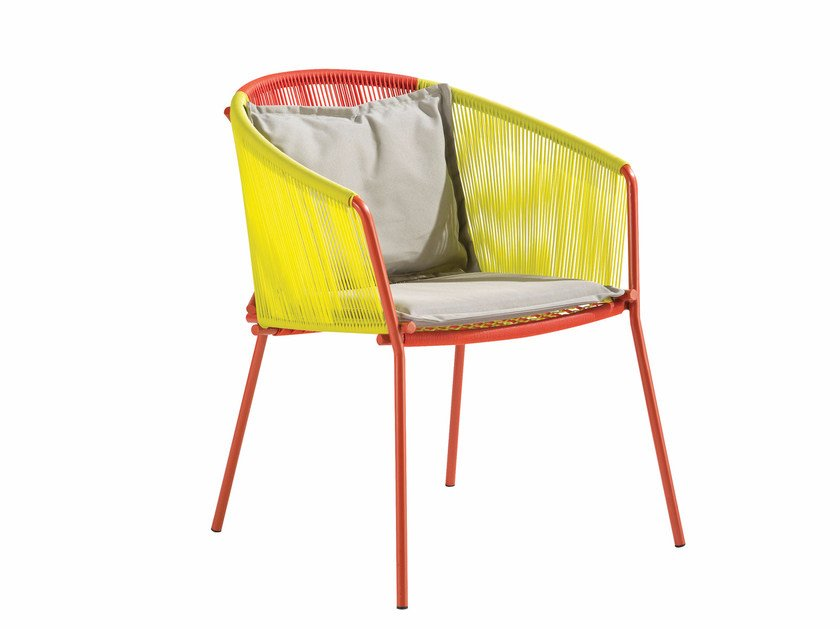 Garden chair with armrests THE TRAVELER | Chair by ROCHE BOBOIS