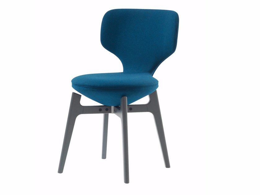 Swivel upholstered fabric chair U-TURN | Chair by ROCHE BOBOIS