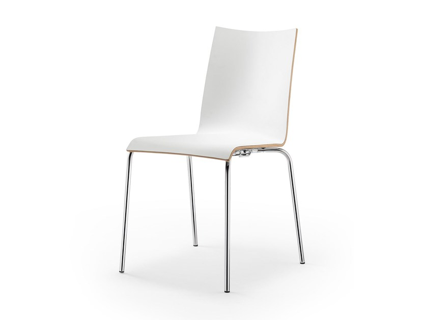 Stackable wood veneer chair ATICON | Chair by rosconi