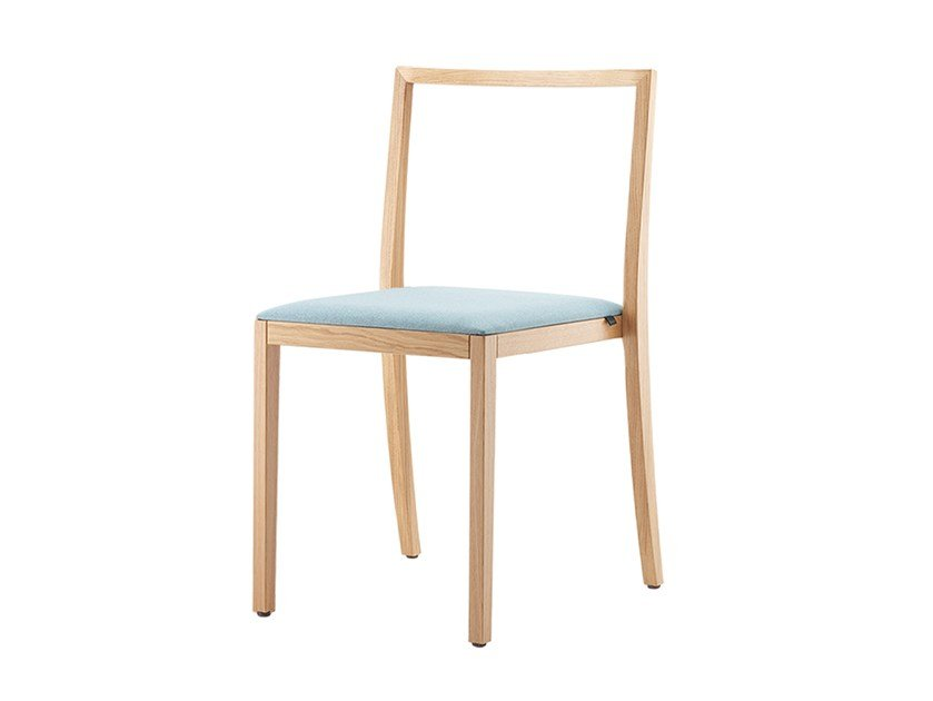 Stackable open back solid wood chair BONNIE & CLYDE | Open back chair by rosconi