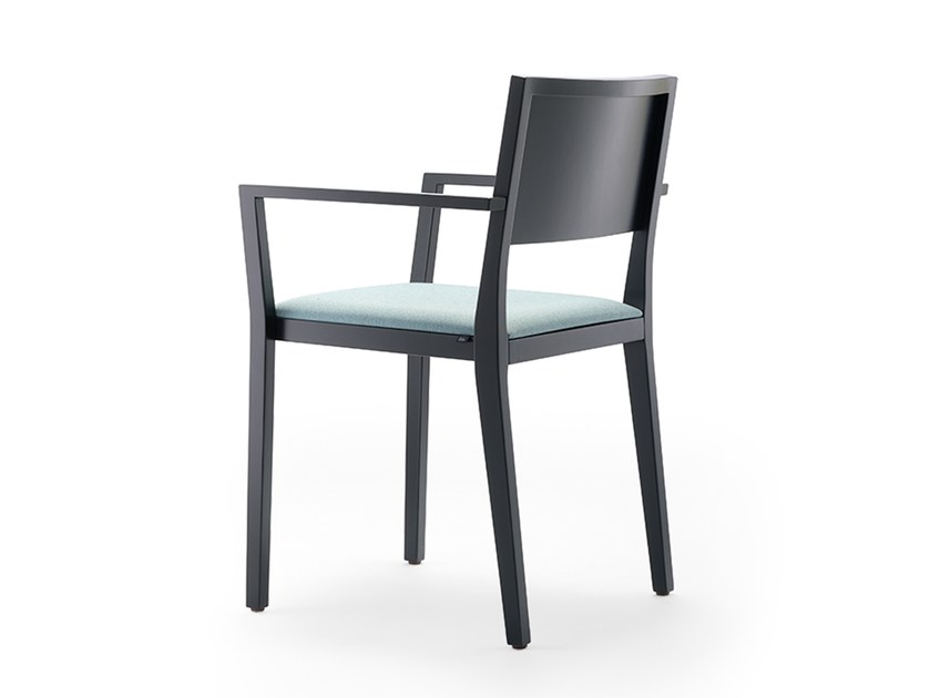 Upholstered stackable chair with armrests BONNIE & CLYDE | Upholstered chair by rosconi