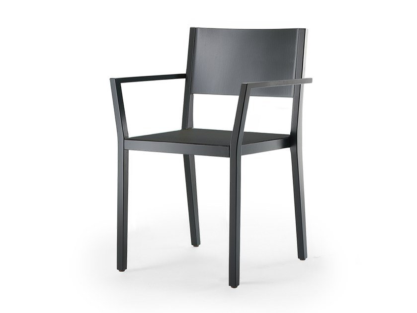 Stackable solid wood chair with armrests BONNIE & CLYDE | Chair with armrests by rosconi