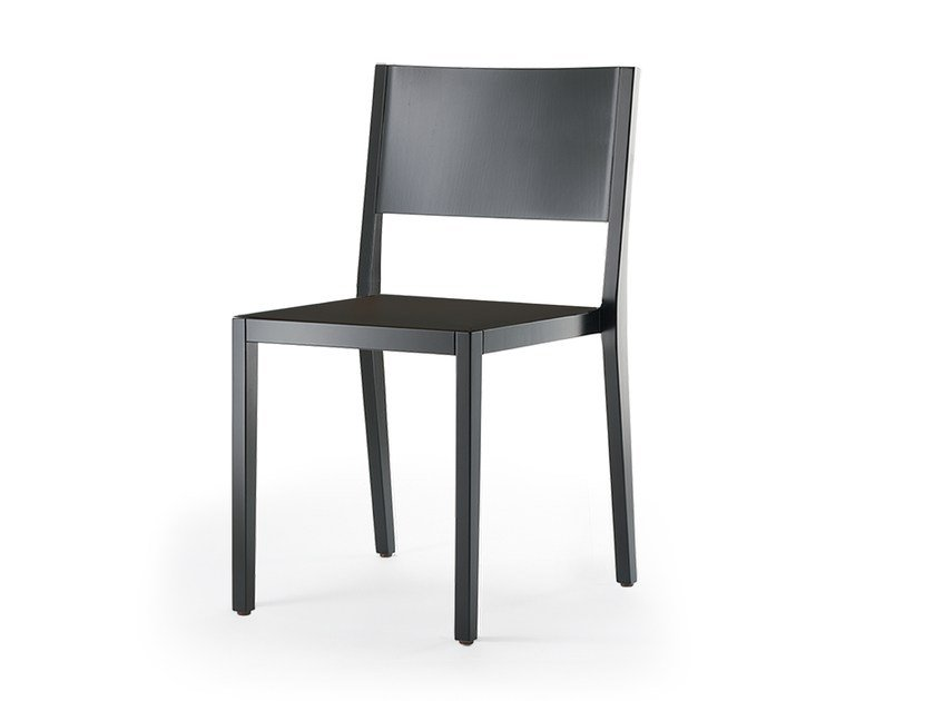 Stackable solid wood chair BONNIE & CLYDE | Stackable chair by rosconi