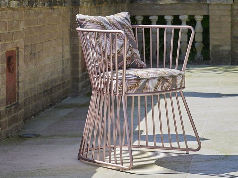 Upholstered garden chair YUCCA | Chair by Samuele Mazza by DFN
