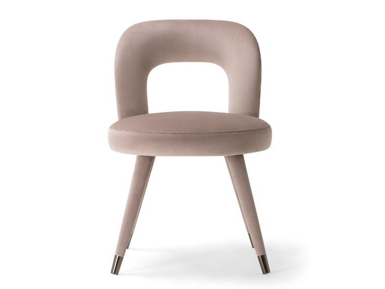 Upholstered open back fabric chair HOLLY | Chair by Tirolo