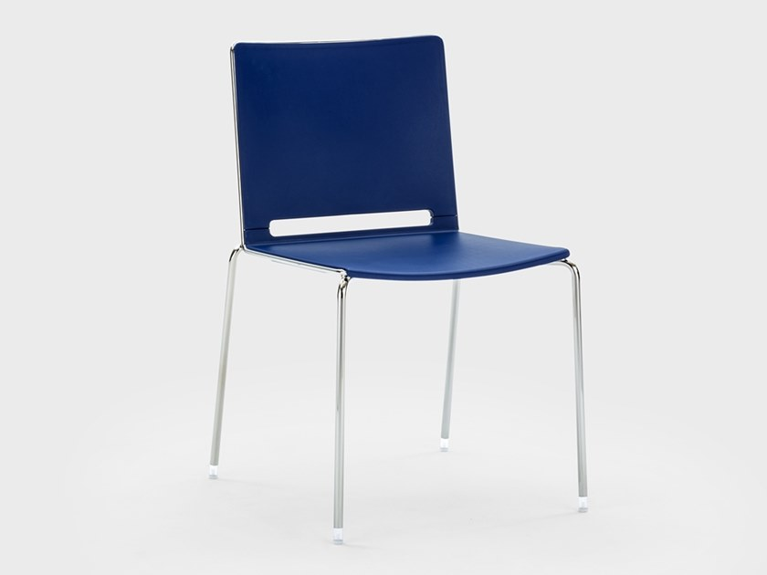 Stackable plastic reception chair DAISY | Chair by Viganò