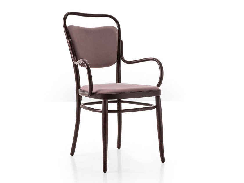 Upholstered beech chair with armrests VIENNA 144 | Chair by Wiener GTV Design