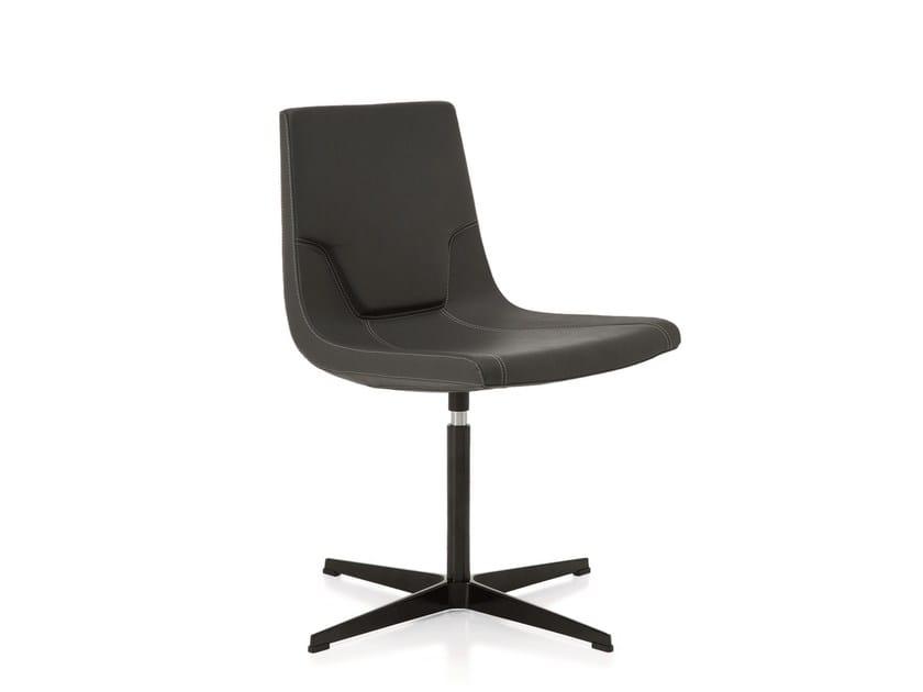 Swivel chair with 4-spoke base ELLE 48 | Chair with 4-spoke base by Emmegi
