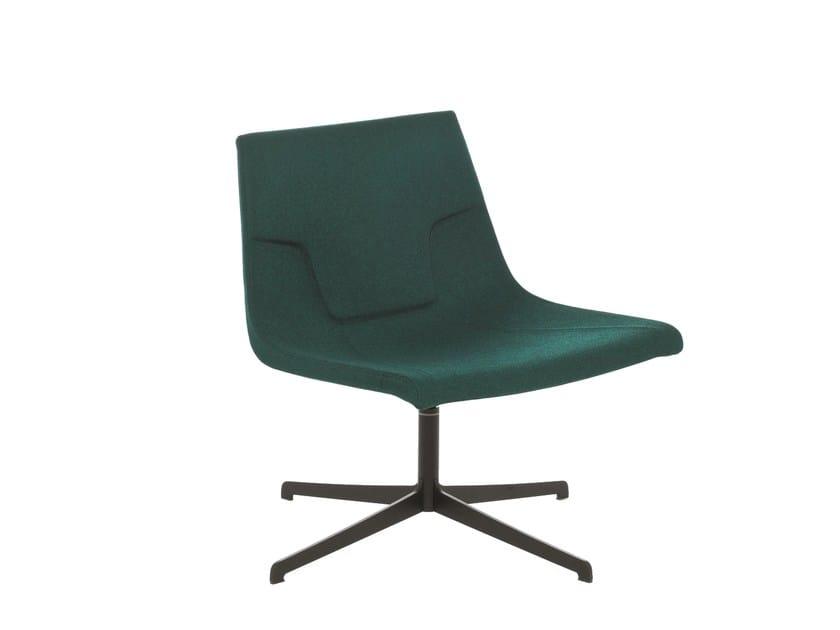 Swivel chair with 4-spoke base ELLE 70 | Chair with 4-spoke base by Emmegi