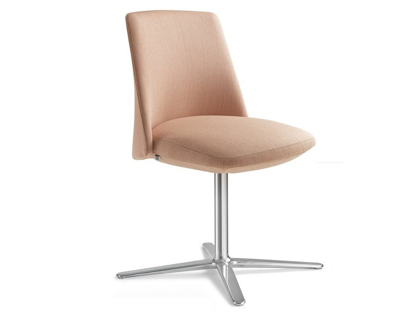 Fabric chair with 4-spoke base MELODY DESIGN   Chair with 4-spoke base by LD Seating