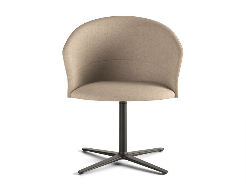 Upholstered chair with 4-spoke base COPA | Chair with 4-spoke base by Viccarbe