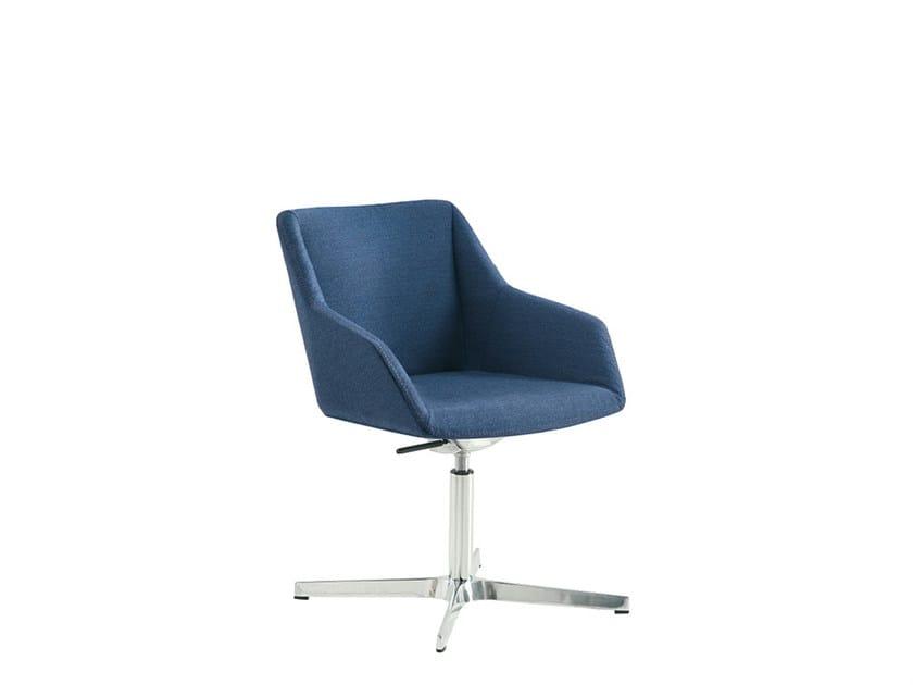 Fabric reception chair with 5-spoke base DAMA PLAIN | Chair with 5-spoke base by Sesta