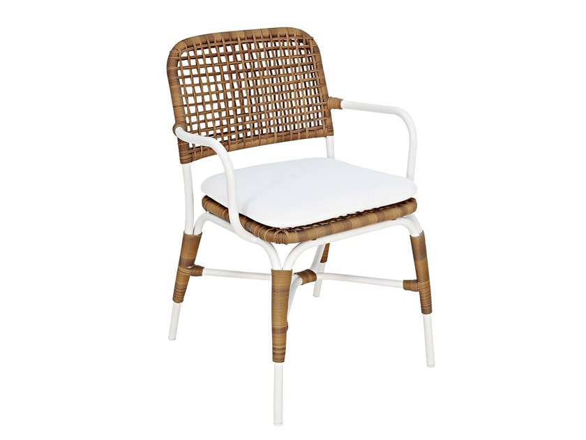 Synthetic fibre garden chair with armrests SIAK   Chair with armrests by cbdesign