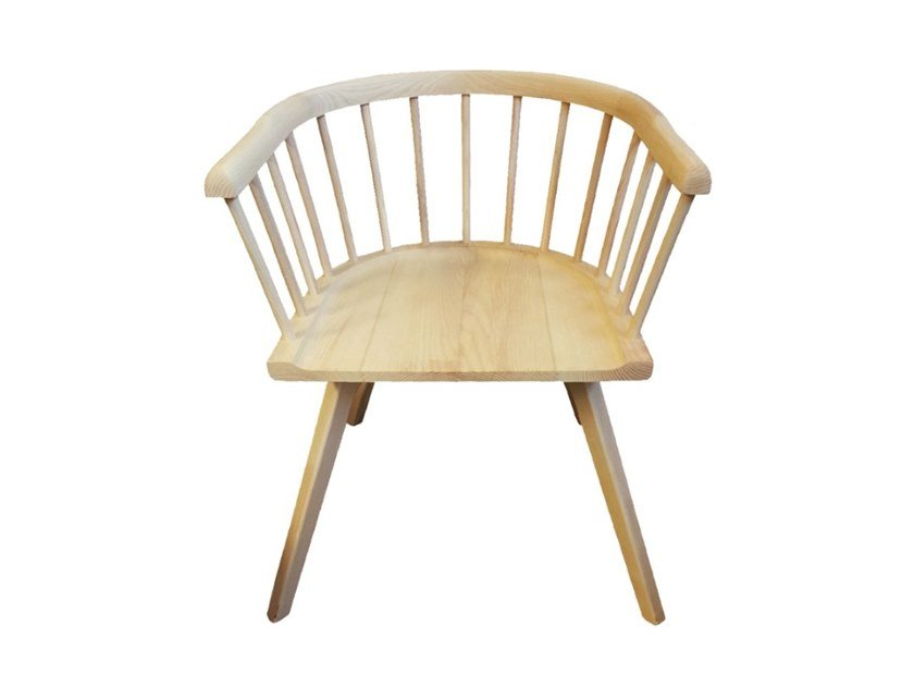 Solid wood chair with armrests HELLEN | Chair with armrests by Conceito Casa