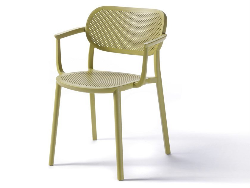 Technopolymer chair with armrests NUTA B by GABER