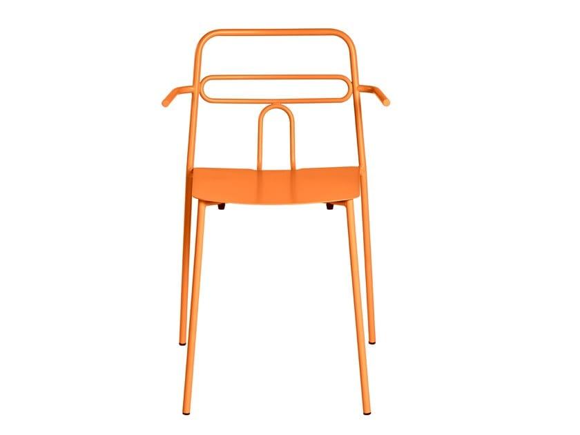 Sedia da giardino impilabile in metallo con braccioli DIDA | Sedia con braccioli by CaStil