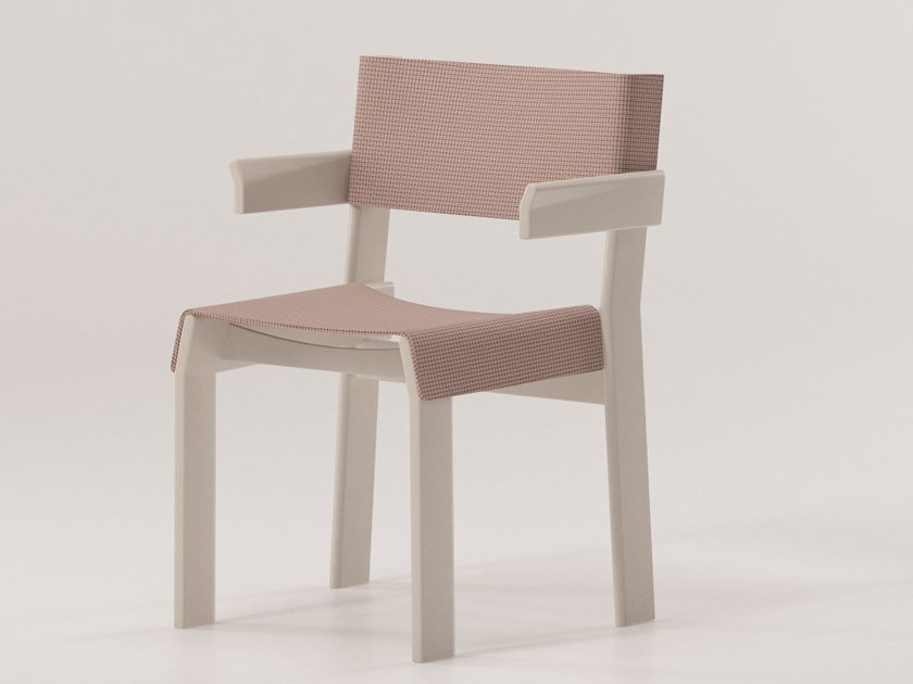 Fabric chair with armrests BAND | Chair with armrests by KETTAL