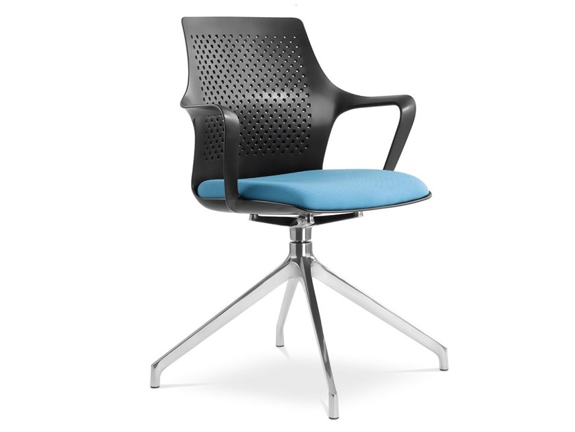 Trestle-based chair with armrests TARA | Chair with armrests by LD Seating
