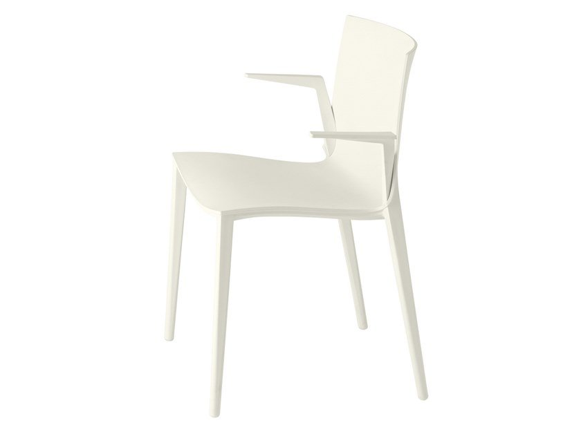 Polypropylene chair with armrests PALAU 1021 by mETALmobil