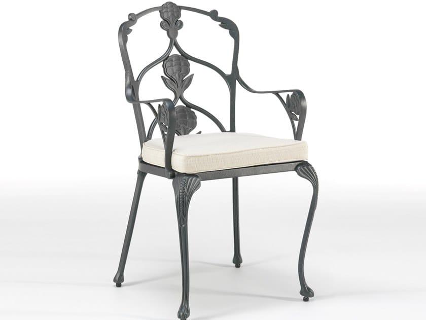 Aluminium garden chair with armrests BARRINGTON   Chair with armrests by Oxley's Furniture