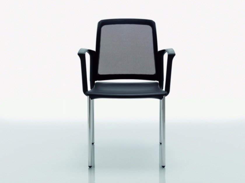 Polypropylene chair with armrests COLLEGE | Chair with armrests by Quadrifoglio