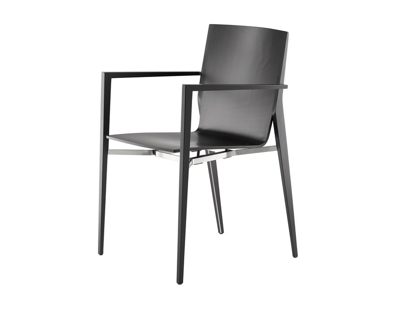Stackable wooden chair with armrests TENDO | Chair with armrests by rosconi