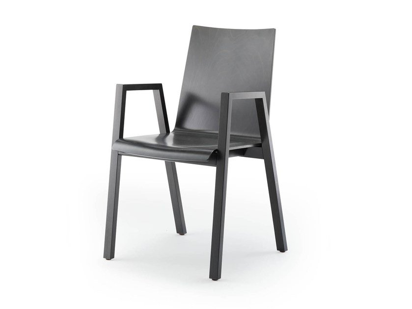 Stackable chair with armrests PAN | Chair with armrests by rosconi