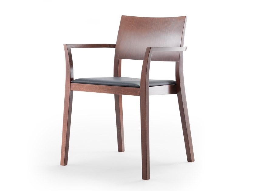 Solid wood chair with armrests BONNIE 380 | Chair with armrests by rosconi