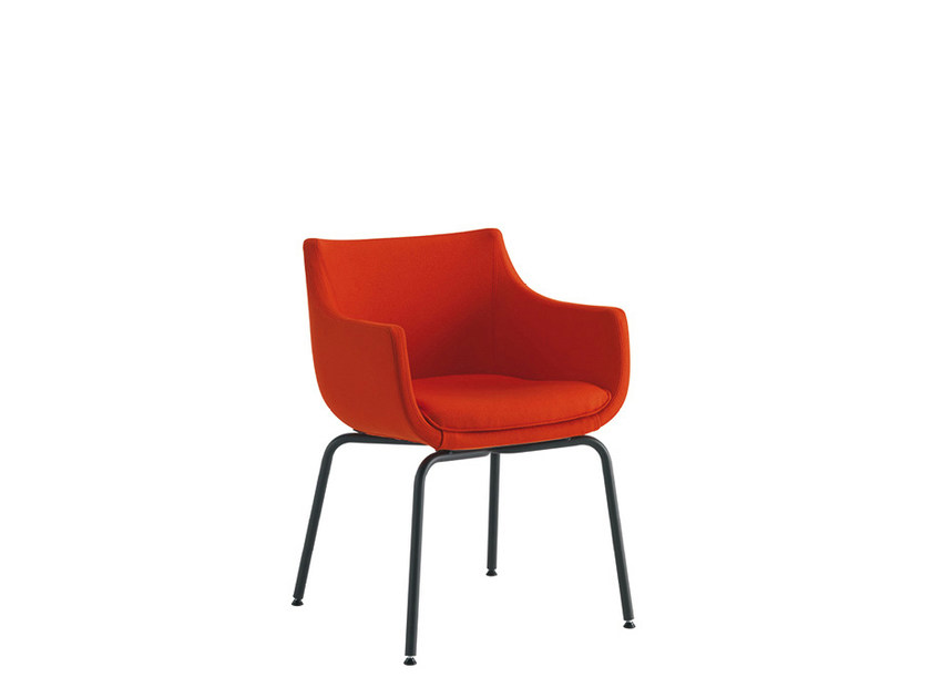 Reception chair with armrests D&N PLUS | Chair with armrests by Sesta