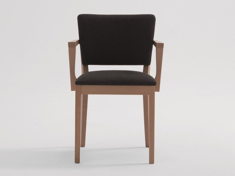 Upholstered fabric chair with armrests POSH | Chair with armrests by SF Collection
