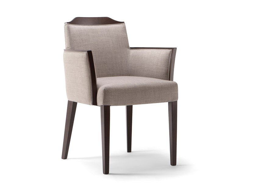 Upholstered fabric chair with armrests BOSTON | Chair with armrests by Tirolo