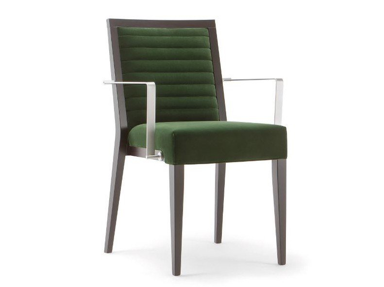 Fabric chair with armrests GINEVRA | Chair with armrests by Tirolo