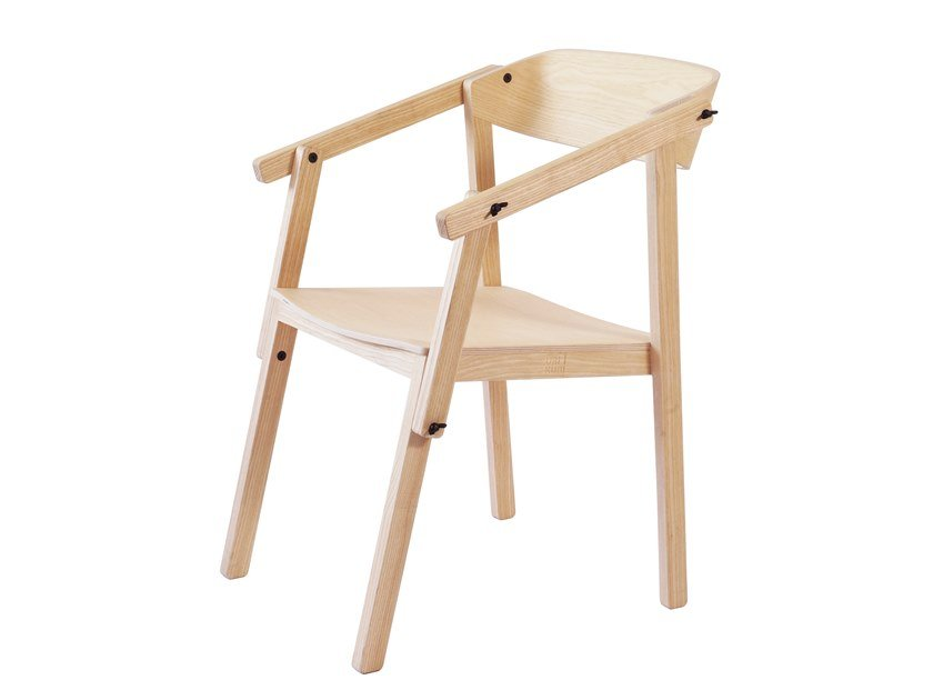 Ash chair with armrests ATELIER | Ash chair by UBIKUBI