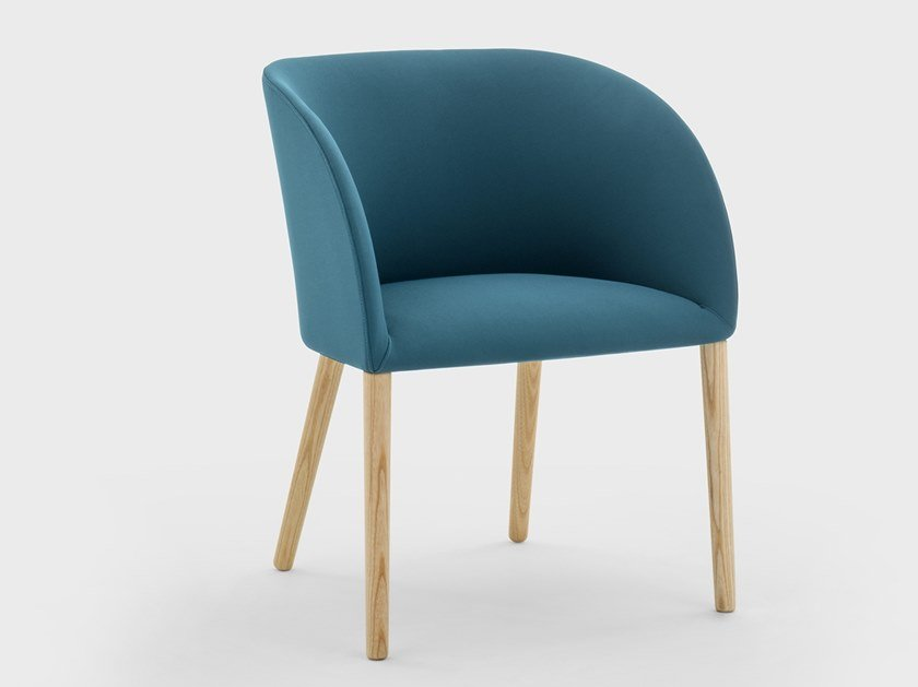 Chair with armrests in fabric with structure in ash MILLY | Chair with armrests by Viganò