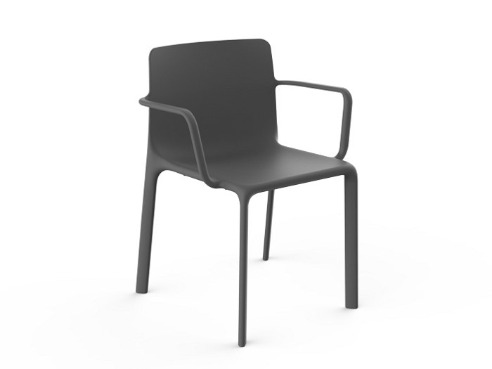 Garden chair with armrests KES | Chair with armrests by VONDOM