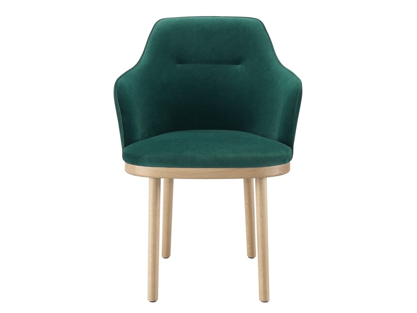 Upholstered fabric chair with armrests SARTOR | Chair with armrests by Wewood