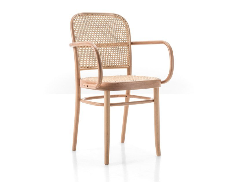 Beech chair with armrests N. 811 | Chair with armrests by Wiener GTV Design