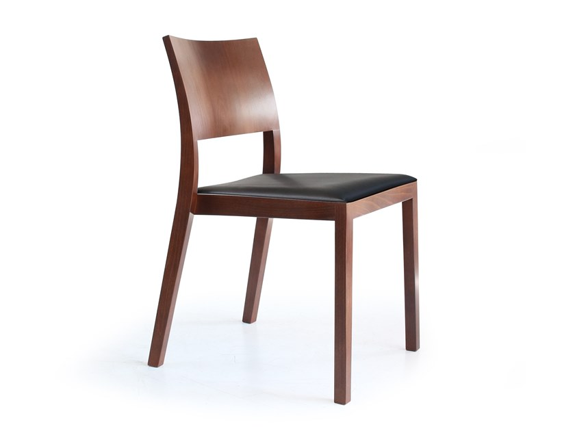 Solid wood chair with integrated cushion BONNIE | Chair with integrated cushion by rosconi