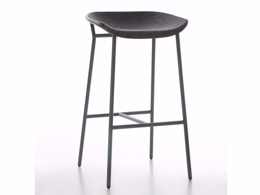 High fabric stool with footrest CHAIRMAN METAL   Stool by conmoto