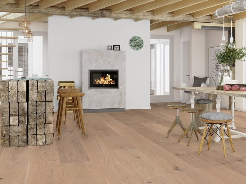 Parquet 3 strati in rovere CHALET ROVERE TRADITIONAL SBIANCATO by BOEN