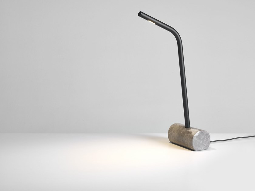 LED marble desk lamp CHAMFER | Marble table lamp by PER-USE