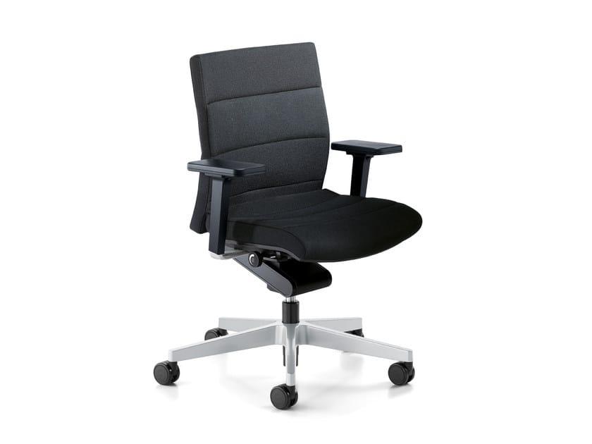 Sedia ufficio operativa ergonomica girevole in tessuto champ c